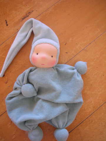 "Waldorf inspired doll for baby ""Twinkle""  green"