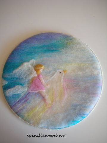 "Wool painting:""Dream flight"""