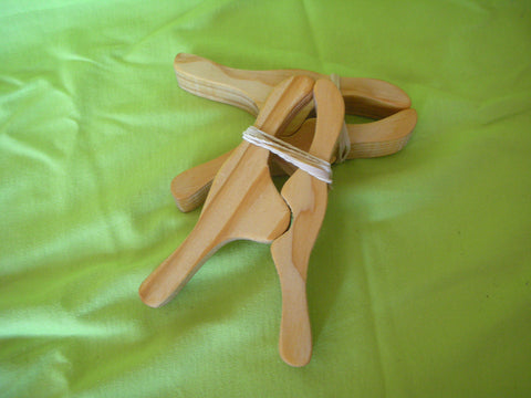 Large wooden pegs