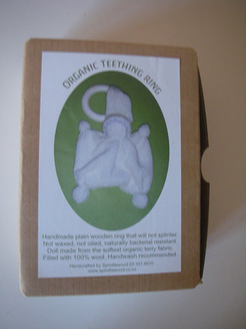 Organic  Steiner inspired teething ring