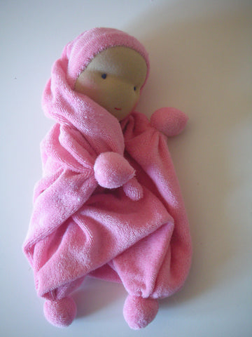 Twinkle, a soft Waldorf inspired cuddly doll...