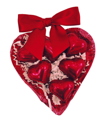 Organic Chocolate Half Heart with Cherry Truffle Hearts