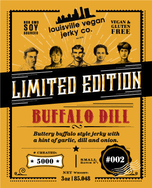 Louisville Vegan Jerky -  Buffalo Dill - LIMITED EDITION