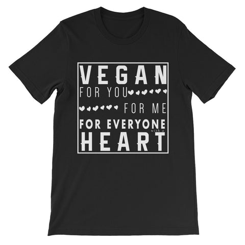 Vegan Heart - Unisex Short Sleeve T-Shirt