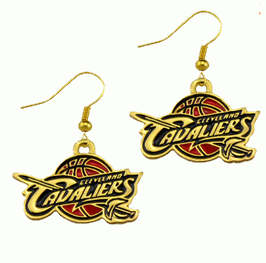 Cleveland Cavs Gold Earings
