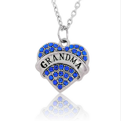 Grandma Crystal Heart Necklace