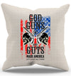 Gods Guns And Guts Pillow Case