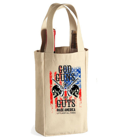 God Guns And Guts Wine Bag