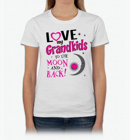 Love My Grandkids to the Moon and Back T shirts