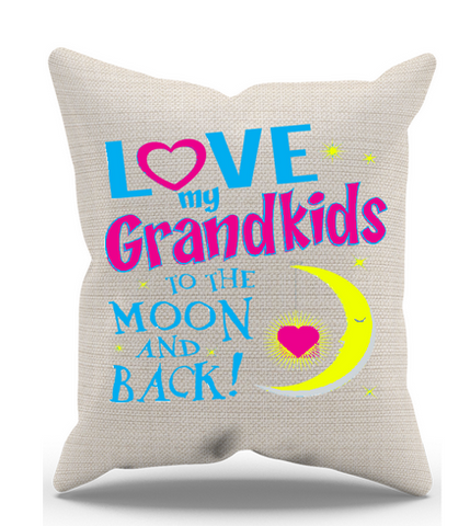 Love My Grandkids to the Moon & Back Pillow Case