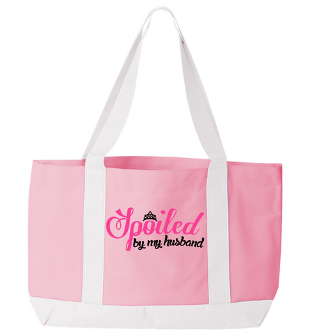 Spoiled By My Husband Tote Bag