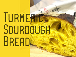 Turmeric Sourdough Bread Loaf