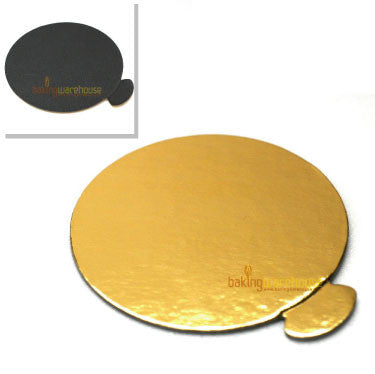 7 cm Gold/black dessert base card