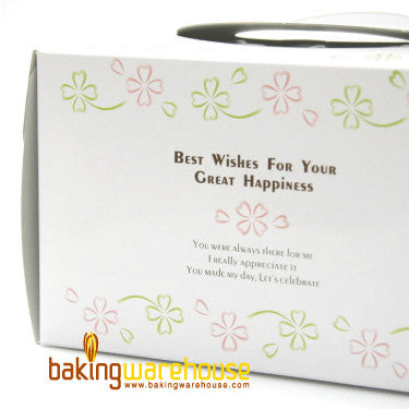 Japanese cake box [Best Wishes For Your Great happiness]
