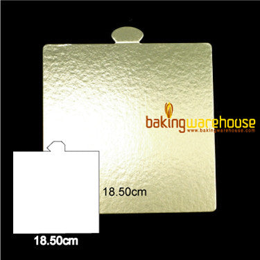Gold square base card