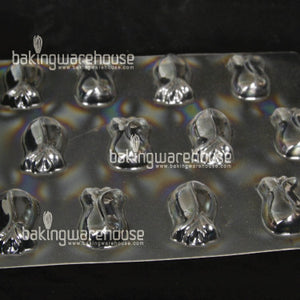 Flower shape flat chocolate mould