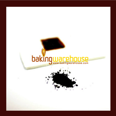 Black edible color powder -water base