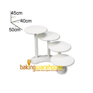 Plastic cake stand for 4x 28 cm cake