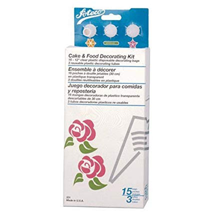 Piping bag decorating kit