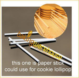 Lollipop paper stick 15 cm -white