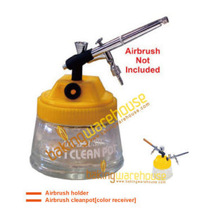 Airbrush cleanpot