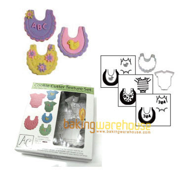 baby cookie cutter with texture sheet