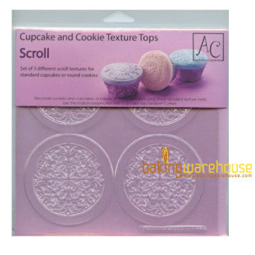 Cupcake and cookie texture tops -scroll texture