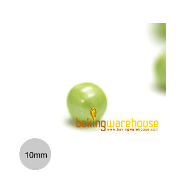 Chocolate Pearl 10mm -Shimmer Lime green