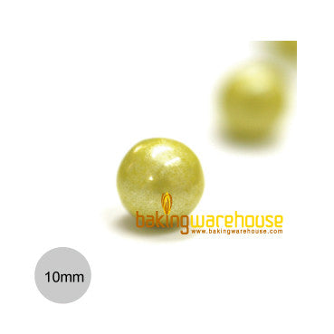Chocolate Pearl 10mm -Shimmer Yellow
