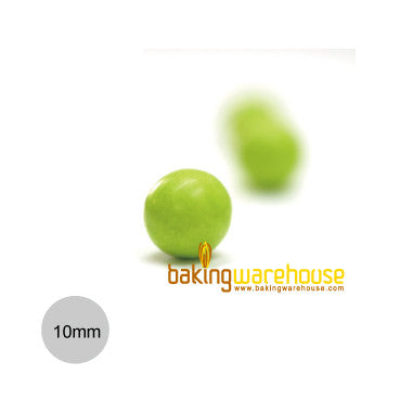 Chocolate Pearl 10mm -Lime green