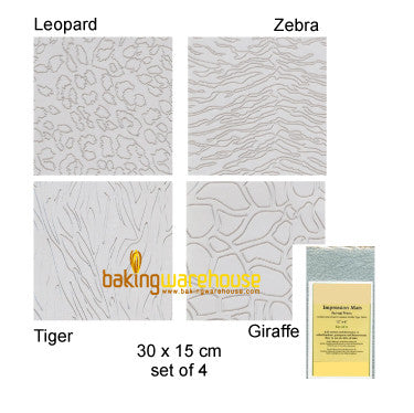 Impress texture sheet-animal print
