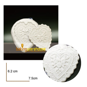 Silicon lace mould - Heart