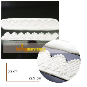 Silicon lace mould - Latticed border