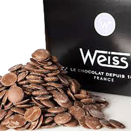 Weiss 41% Milk chocolate button