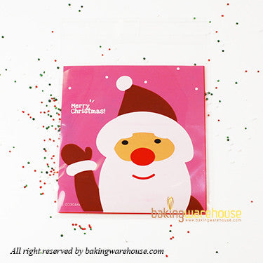 X'mas santa Cookie bag 10x10cm