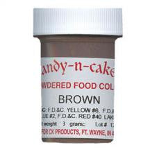brown color powder candy n cake