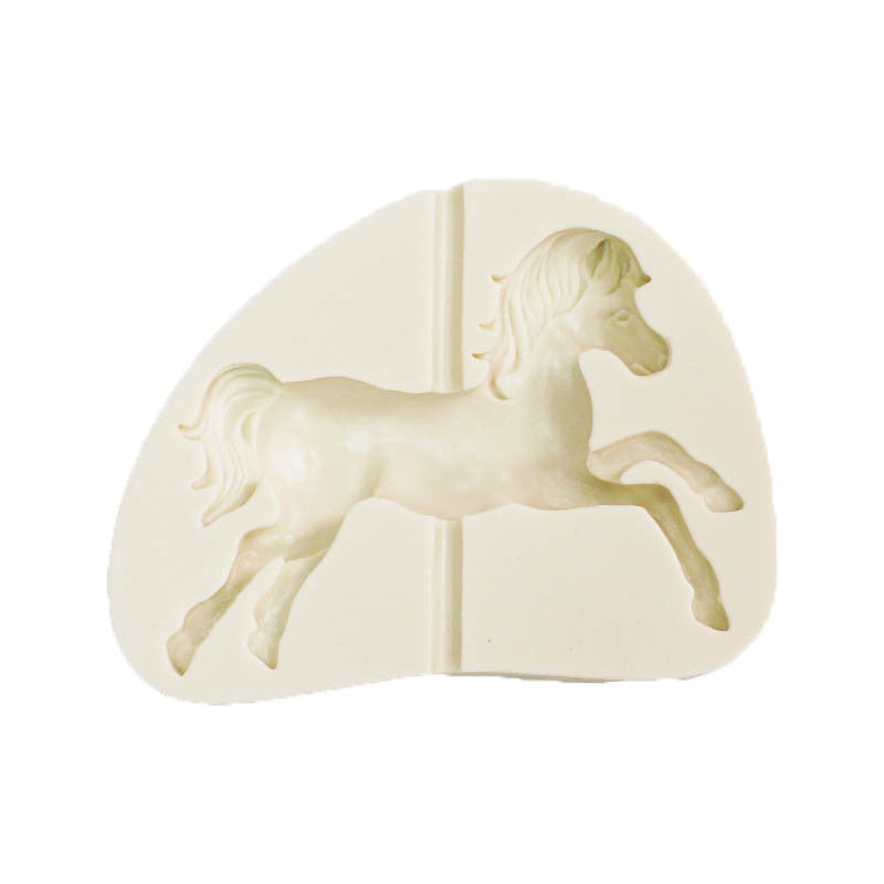 silicon gum paste mold- horse