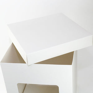 High window cake box -white