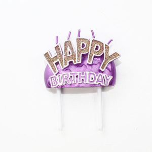 Shimmer Happy Birthday Candle