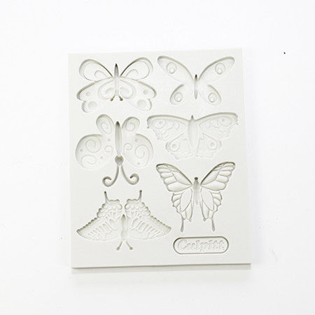 silicon gum paste mold-butterfly