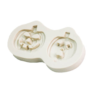 silicon gum paste mold- pumpkin -halloween