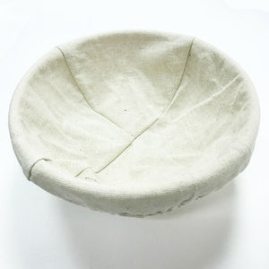 Banneton round 20 cm bread dough proofing basket with canvas