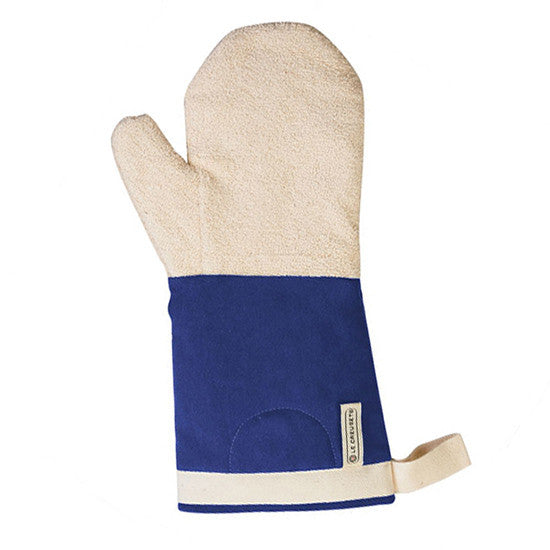 Canvas Oven Mitts - Blue