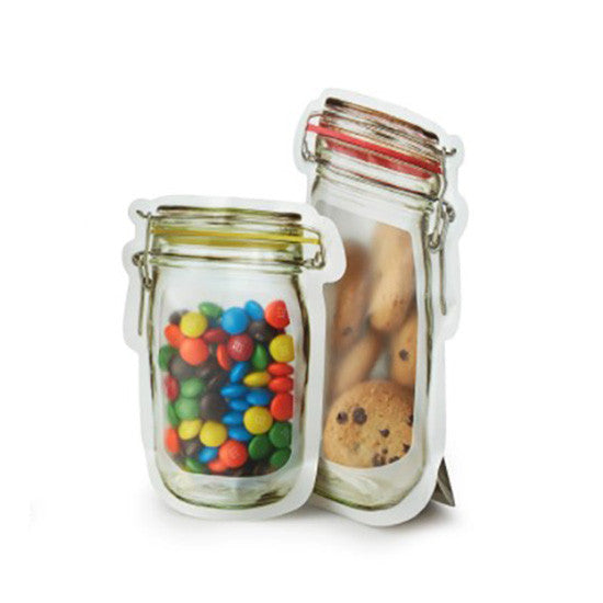 Reusable Hinged Jar Zipper Bags