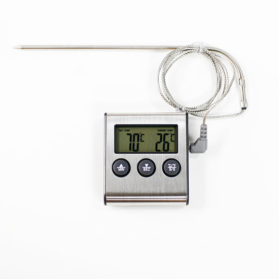 Oven thermometer time with alert