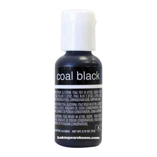 Coal Black color gel -Chef Master