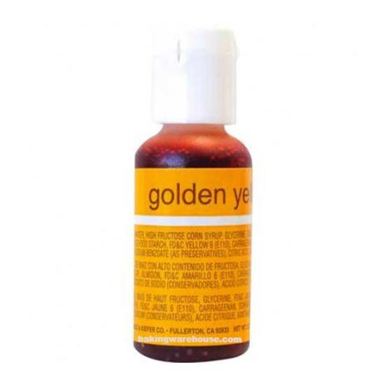 Golden Yellow color gel -Chef Master