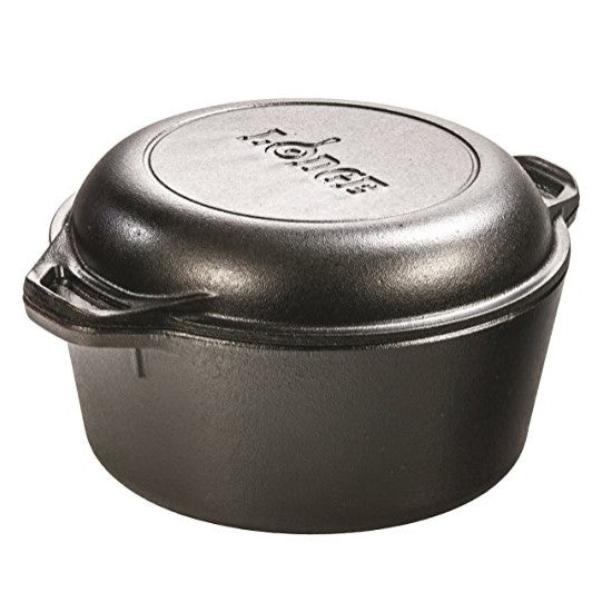 Lodge Cast Iron Double Dutch Oven