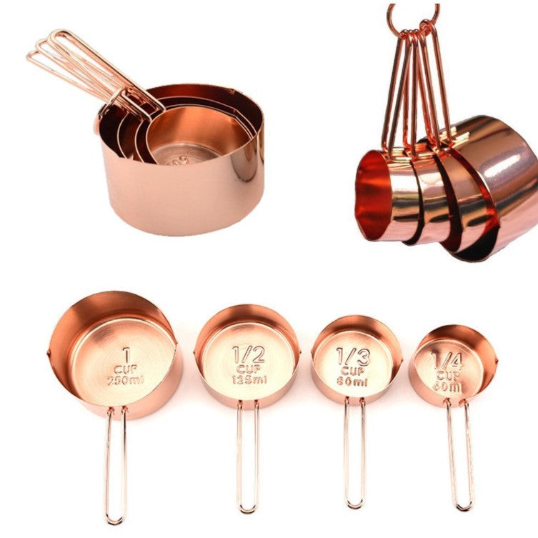 copper stainless steel measuring cup 1 4 1cup bakingwarehouse. Black Bedroom Furniture Sets. Home Design Ideas