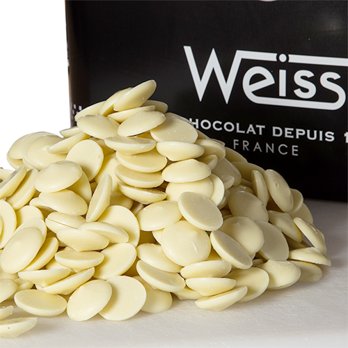 Weiss 29% White chocolate button